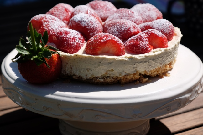 Strawberry cheese cake with Advocaat